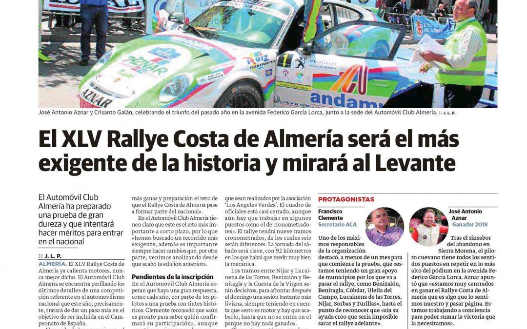El Ideal de Almería se hace eco de la próxima edición del Costa