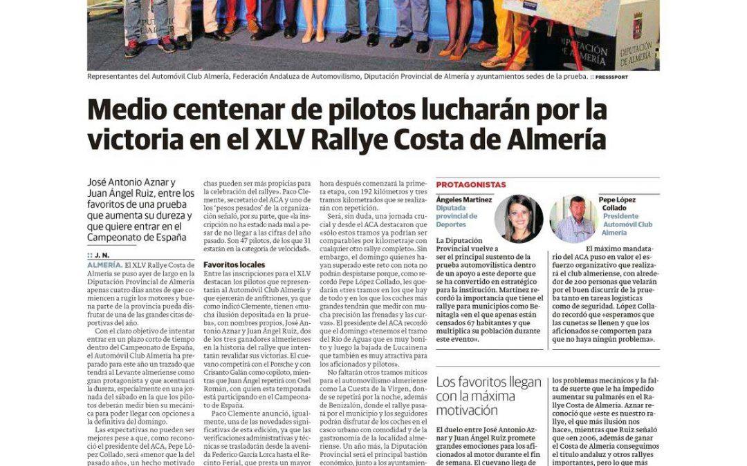 Publicación en diversos medios de la presentación del rallye